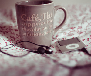 coffee, ipod, and cup image