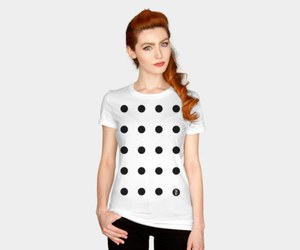 black and white, design, and t-shirts image