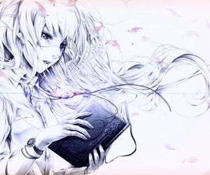 anime girl and book image