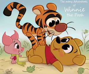 disney, winnie the pooh, and tiger image