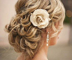 curls, pretty girl, and prom hair image