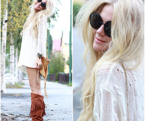 blonde, fashion, and glasses image