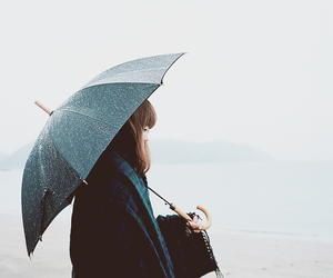 girl and rain image