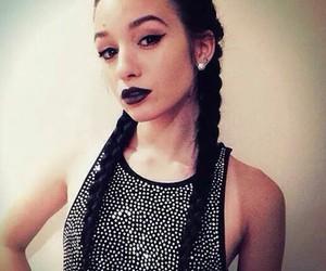 beauty, black hair, and black lips image