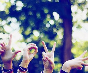 love, friends, and fingers image