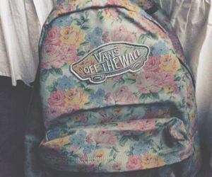 vans, flowers, and bag image