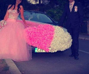 car, heart, and wedding image