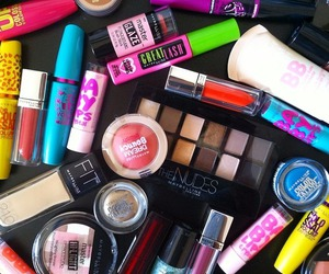 makeup, Maybelline, and beauty image