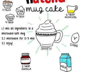 nutella and mug cake image