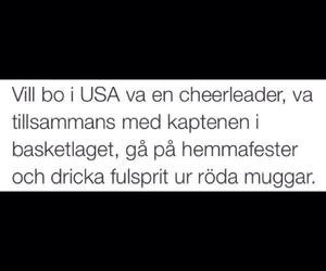 cheerleader, svenska, and text image