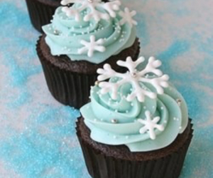 cupcake, winter, and blue image