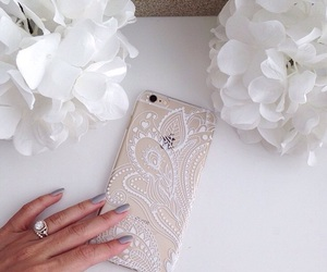 iphone, white, and case image