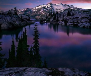 nature, mountains, and purple image