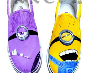 minions, shoes, and despicable me image