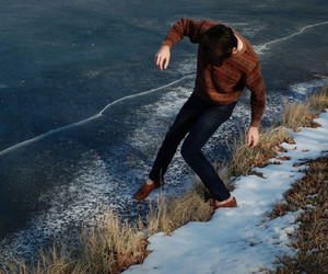 frost, sweater, and winter image