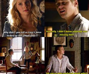 funny, the vampire diaries, and caroline forbes image