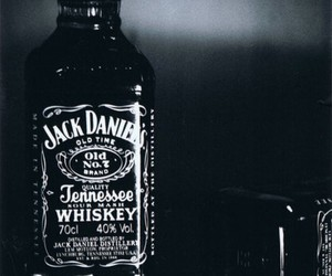 jack daniels, whiskey, and cigarette image