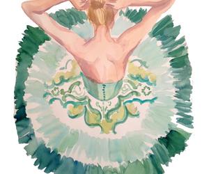 art, ballerina, and dress image