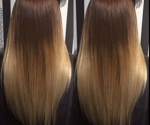 long hair, straight hair, and ombre hair image