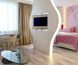 air, pink, and room image