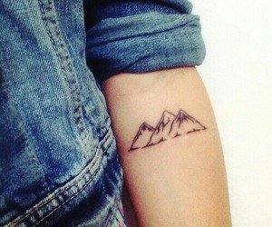 tattoo, cute, and mountains image