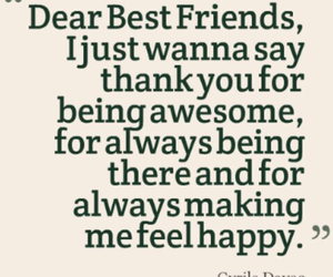 best friends, happy, and quote image