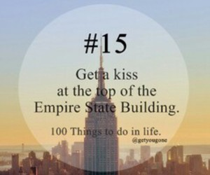 15, kiss, and 100 things to do in life image