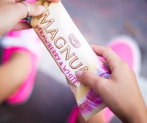 Magnum, pink, and ice cream image