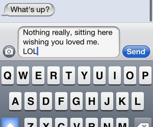 love, text, and iphone image