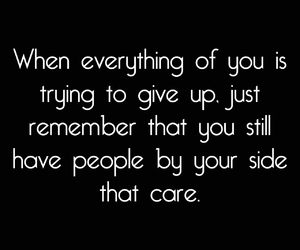 care, give up, and giving up image