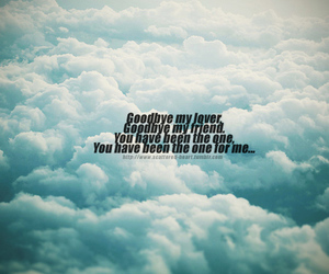 goodbye, quotes, and sky image