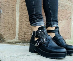 ankle boots, booties, and chunky boots image