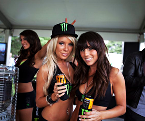 girl, monster, and brunette image