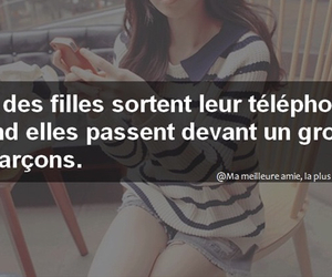 garcon, telephone, and phrases de filles image
