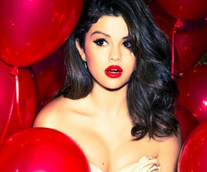baloons, red, and selena gomez image