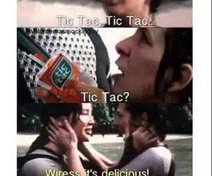 tic tac, katniss, and catching fire image