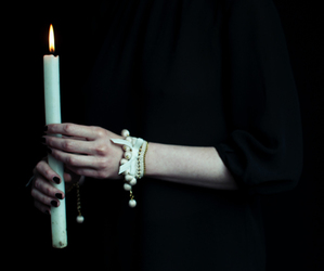 candle, black, and dark image