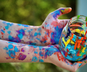 paint, colors, and colorful image