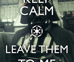 darth vader, keep calm, and star wars image