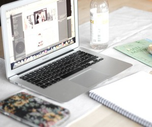 book, macbook, and computer image