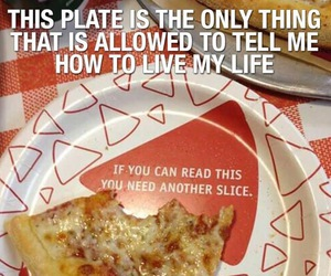 pizza and plate image