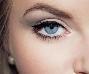 blue eyes, girl, and make up image