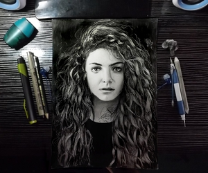art, black and white, and lorde image