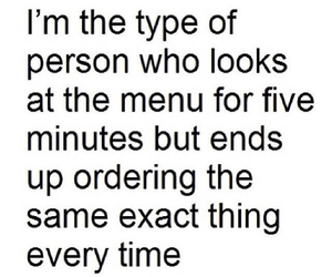 funny, person, and menu image