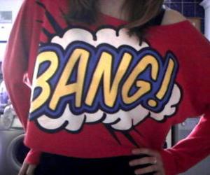 bang, sweater, and cartoon image