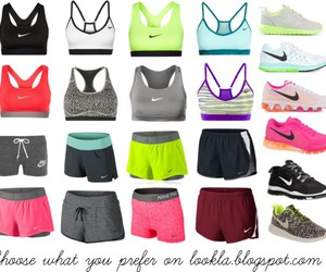 clothing, nike, and sneakers image