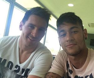 neymar, messi, and neymar jr image