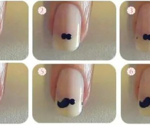mustache, nails, and ♥ image
