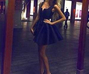 azul, lindo, and vestido image