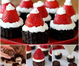 food, christmas, and strawberry image